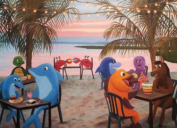 """Meet Us at Macky's"" 16x20 Giclée Canvas Print"