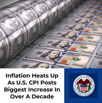 Inflation Heats Up As U.S. CPI Posts Biggest Increase In Over A Decade