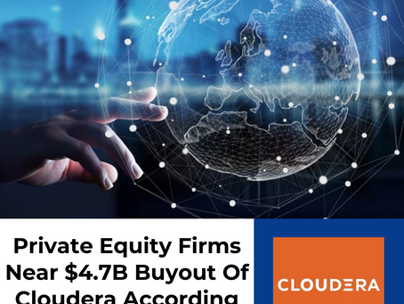 Private Equity Firms Near $4.7B Buyout Of Cloudera According To Reports