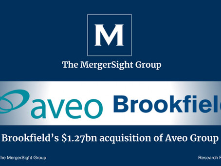 Acquisition of Aveo Group by Brookfield