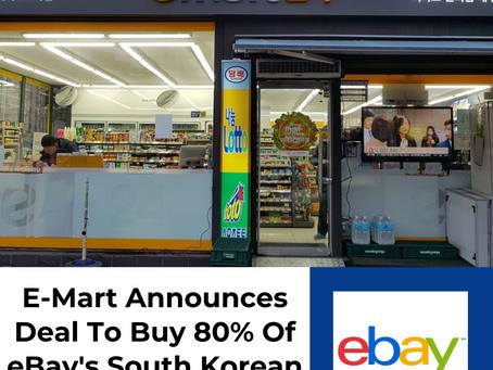 E-Mart Announces Deal To Buy 80% Of eBay's South Korean Business For $3B