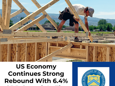 US Economy Continues Strong Rebound With 6.4% GDP Growth In The First Quarter
