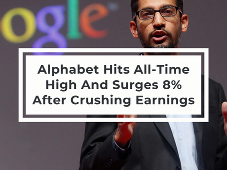 Alphabet Hits All-Time High And Surges 8% After Crushing Earnings