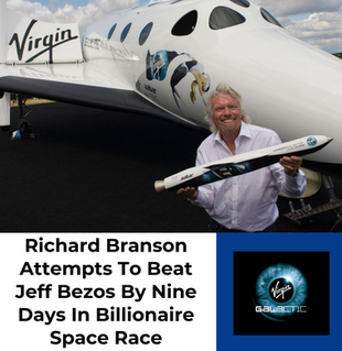 Richard Branson Attempts To Beat Jeff Bezos By Nine Days In Commercial Space Race