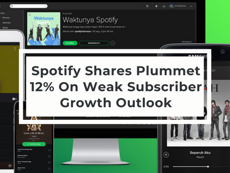 Spotify Shares Plummet 12% On Weak Subscriber Growth Outlook
