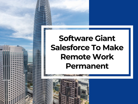 Software Giant Salesforce To Make Remote Work Permanent