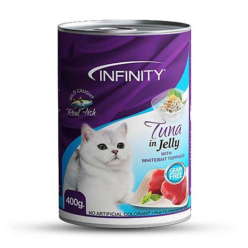 Infinity Cat Wet Food Tuna in Jelly (Whitebalt Topping) 400G (ONE day advance or