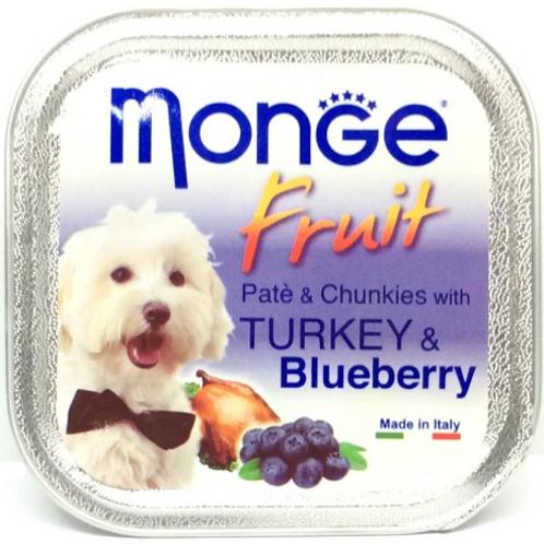 Monge Fruit Turkey/Blueberry 100G (ONE day advance ordering)