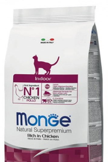 Monge Natural Super Premium - Indoor Adult Cat - 10KG (ONE day advance