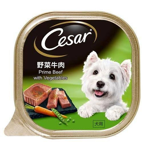 Cesar Prime Beef & Vegetable 100G (Minimum Order of 4 Packs)