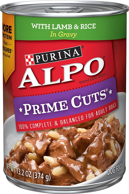 Alpo Prime Cuts Lamb & Rice Canned 374G 12pcs