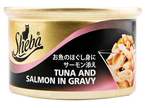 Sheba Can Tuna & Salmon in Gravy 85G