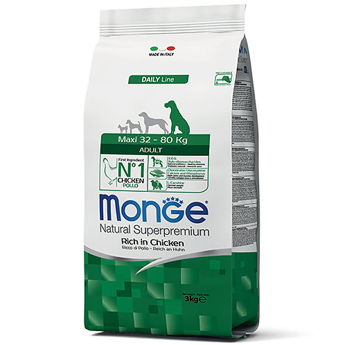 Monge Natural Super Premium - MAXI - Adult 3KG (ONE day advance ordering)