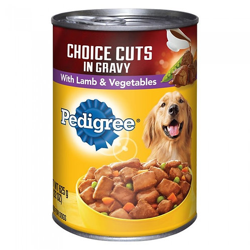 Pedigree Choice Cuts with Lamb & Vegetable 625G (Cost for 2pcs)