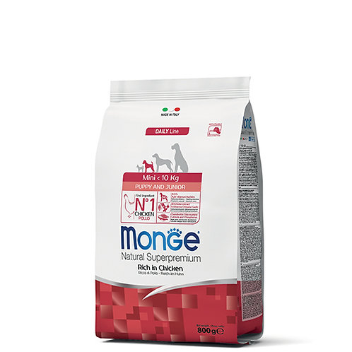 Monge Natural Super Premium - MINI - Puppy/Junior 800G (ONE day advance ordering