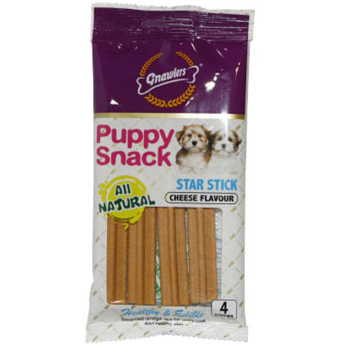 Gnawlers Puppy Snack Sheese Star Stick 80G (ONE day advance ordering)