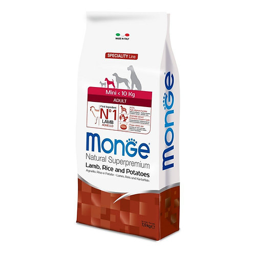 Monge Natural Super Premium - MINI - Adult 7.5KG (ONE day advance ordering)