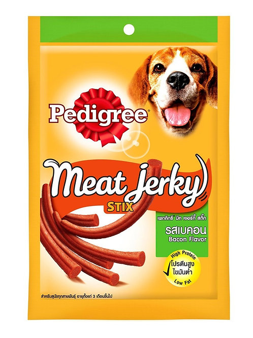 Pedigree Meat Jerky Stix Bacon 60G (Minimum order of 4 Packs)