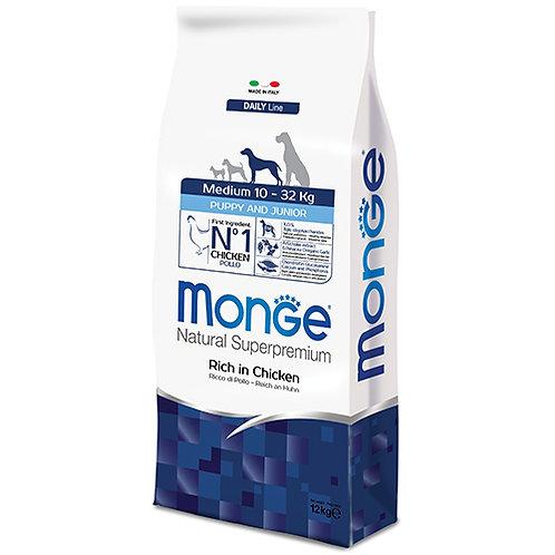 Monge - MEDIUM - Puppy/Junior 12KG (ONE day advance ordering)