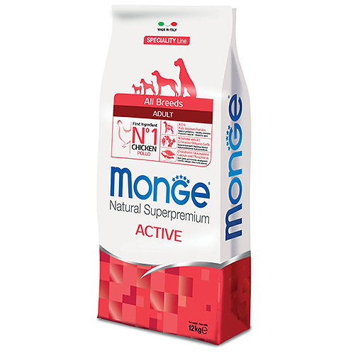 Monge Super Premium All Breed Dog Adult - ACTIVE 12KG (ONE day advance ordering)