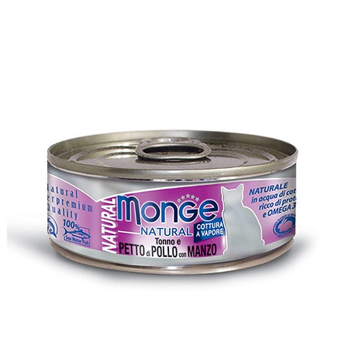 Monge Natural Tuna & Chicken with Beef 80G (ONE day advance ordering)