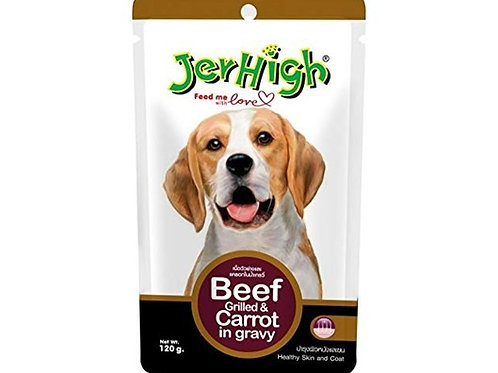 Jerhigh Pouch Beef Grilled & Carrot in Gravy 120G (ONE day advance ordering)