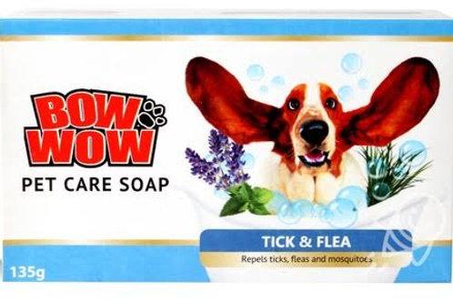 Bow Wow Tick & Flea Dog Soap 135G