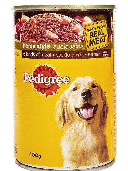 Pedigree 5 Kinds of Meat 400G (Minimum Order of 6 packs)