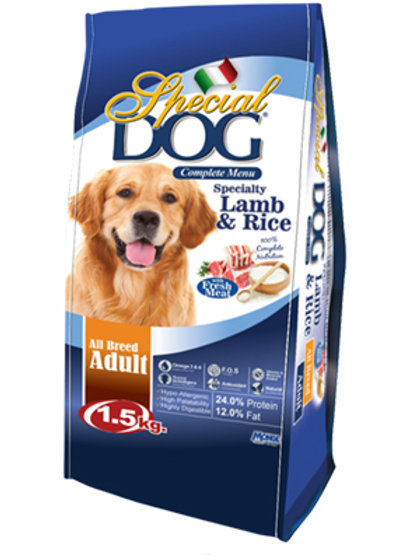 Special Dog Adult Lamb & Rice 1.5KG (ONE day advance ordering)