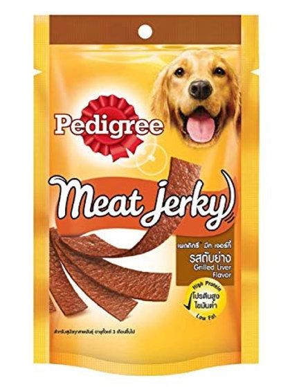 Pedigree Meat Jerky Grilled Liver 80G (Minimum order of 4 Packs)
