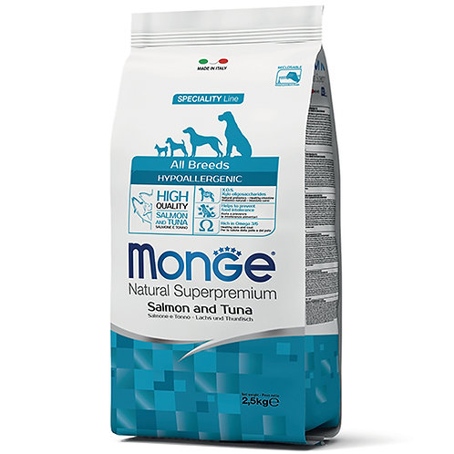 Monge - HYPOALLERGENIC - Salmon & Tuna 2.5KG (ONE day advance ordering)