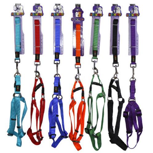Nylon Lead+Harness Set -Large