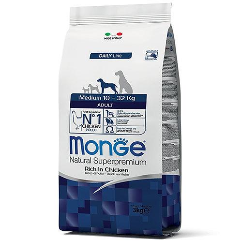 Monge Natural Super Premium - MEDIUM - Adult 3KG (ONE day advance ordering)