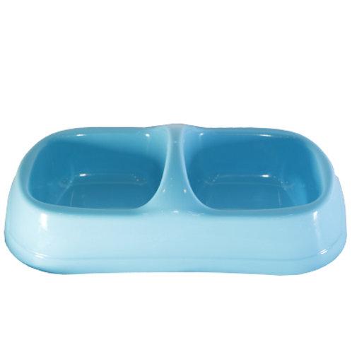 Plastic Square Twin Bowl Feeder CF - 202