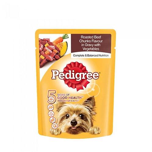 Pedigree Roasted Beef & Vegetable 80G (Minimum Order of 6 packs)