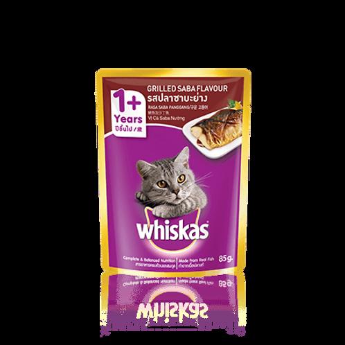 Whiskas Grilled Saba 85G (Minimum order of 4 Packs)