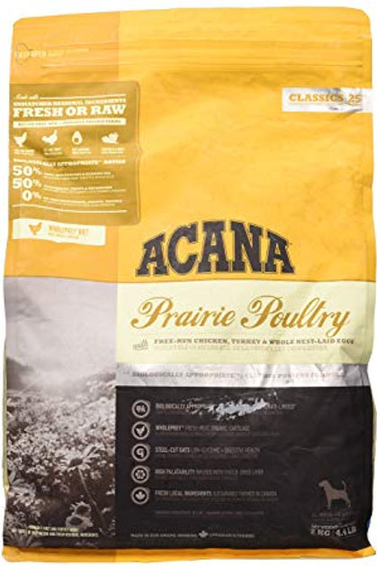 Acana Prairie Poultry for Puppies and Adult Dogs of All Breeds 2KG