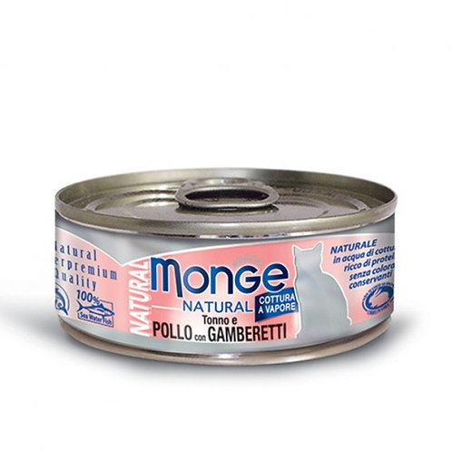 Monge Natural Tuna & Chicken with Shrimp 80G (ONE day advance ordering)