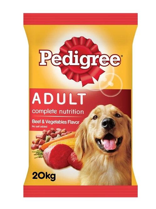 Pedigree Beef & Vegetable 20KG