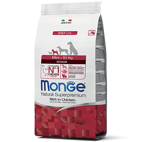 Monge Natural Super Premium - MINI - Senior 3KG (ONE day advance ordering)