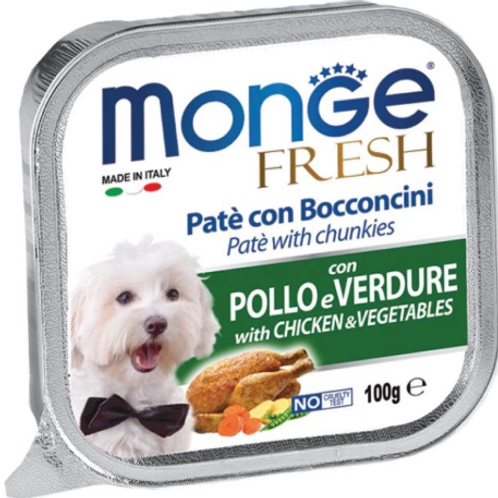 Monge Fresh Chicken with Vegetables  100G (ONE day advance ordering)