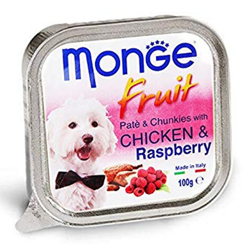 Monge Fruit Chicken/Raspberry 100G (ONE day advance ordering)