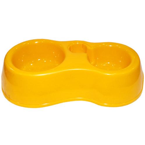 Plastic Round Twin Bowl Feeder CF - 201