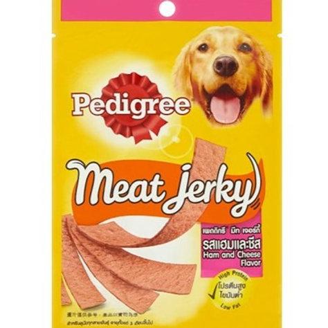 Pedigree Meat Jerky Ham & Cheese 80G (Minimum order of 4 Packs)