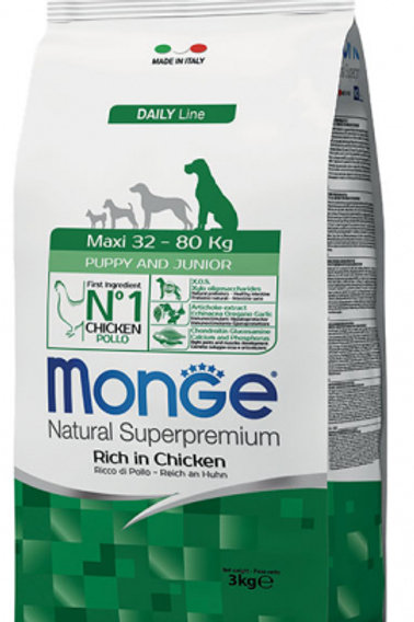 Monge Natural Super Premium - MAXI - Puppy/Junior 3KG (ONE day advance ordering)