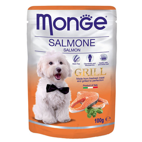 Monge Pouch Grill Grain Free Chunkies SALMON 100G (ONE day advance ordering)