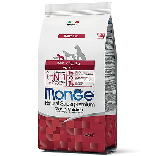 Monge Natural Super Premium - MINI - Adult 3KG (ONE day advance ordering)