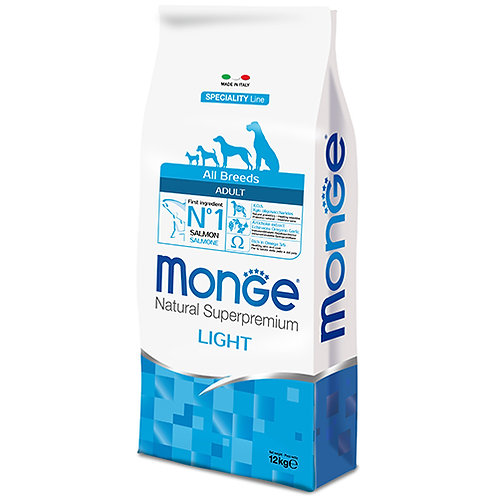 Monge Super Premium All Breed Dog - LIGHT 12KG (ONE day advance ordering)