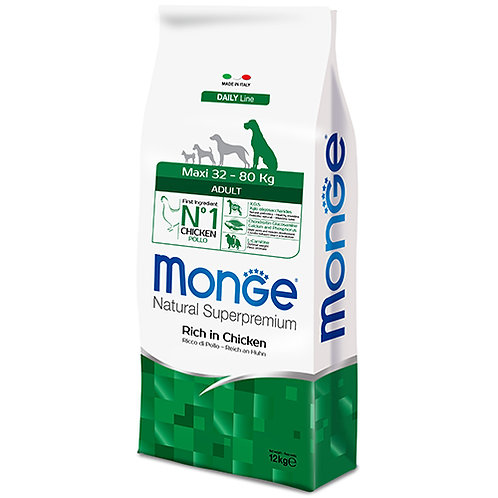 Monge Natural Super Premium - MAXI - Adult 12KG (ONE day advance ordering)