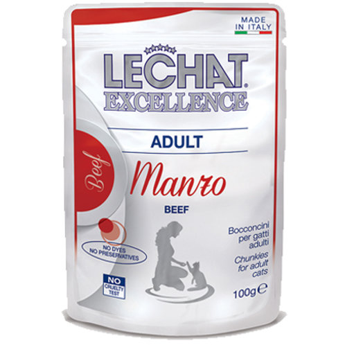 Le Chat Pouch Chunkies BEEF Adult 100G (ONE day advance ordering)